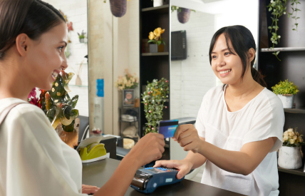 Take payments for your beauty services with our BBPOS reader with solutions for salons, spas, medspa, hair salon, nail salon, wax studio, wax salon, tanning salon service providers