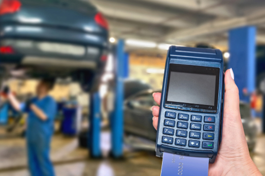 Take payments for your services with solutions for mechanics, detailers, car washes, window tinting, or stereo business