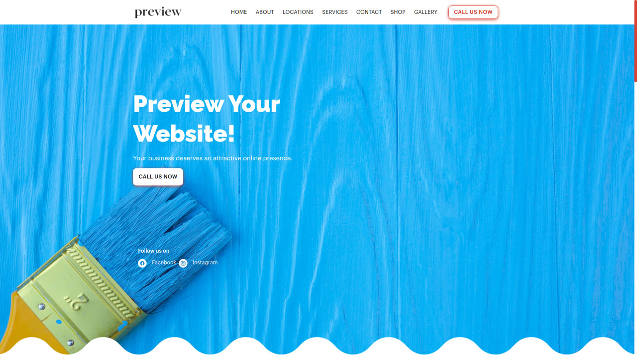 Get a website for your painting business that includes an appointment system, automated email marketing, customer management module, SMS messaging and more