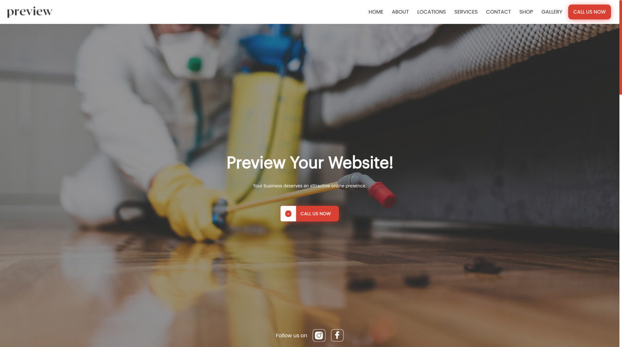 Pest Control, Exterminator Templates are available for you to select from, our tools also include your website, appointment system, automated email marketing and more