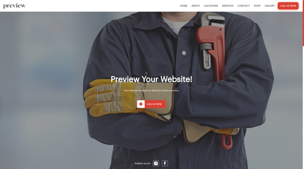 Plumber, Plumbing website and email marketing, appointment system and online estimate tool provided by Wurkzen