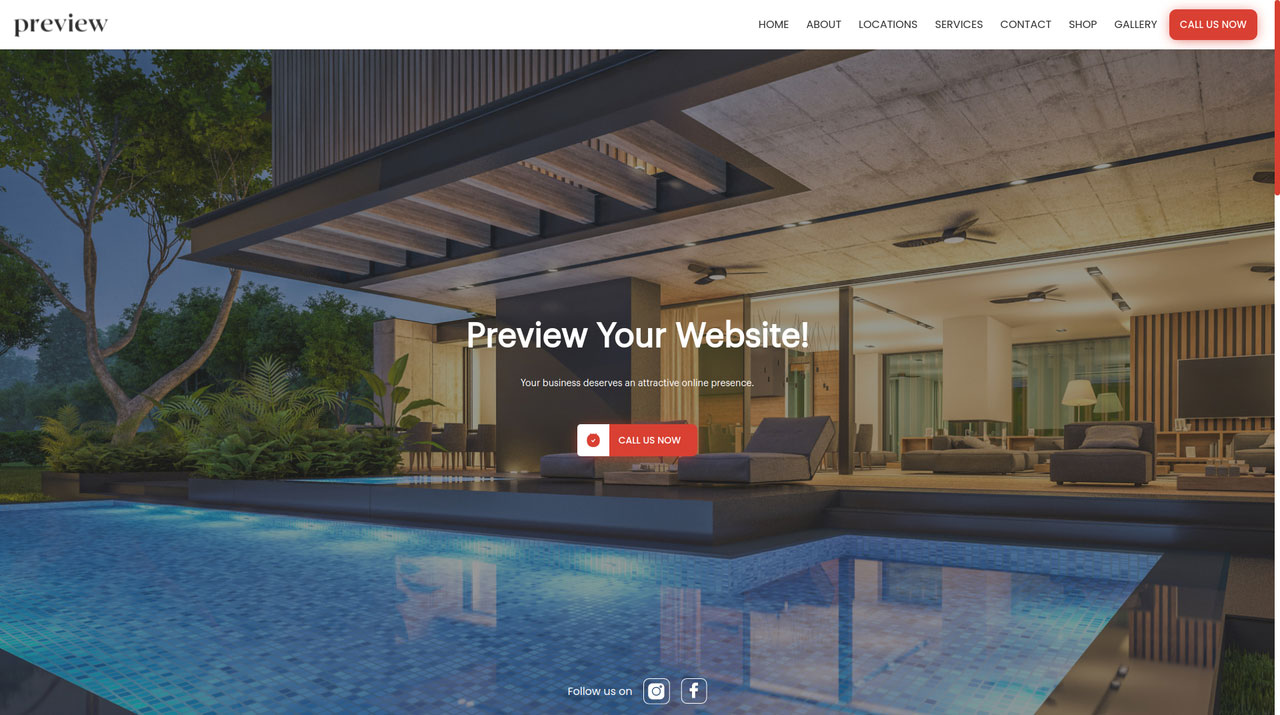 Wurkzen has website templates for pool repair service providers including an appointment system, estimate module, customer management and more