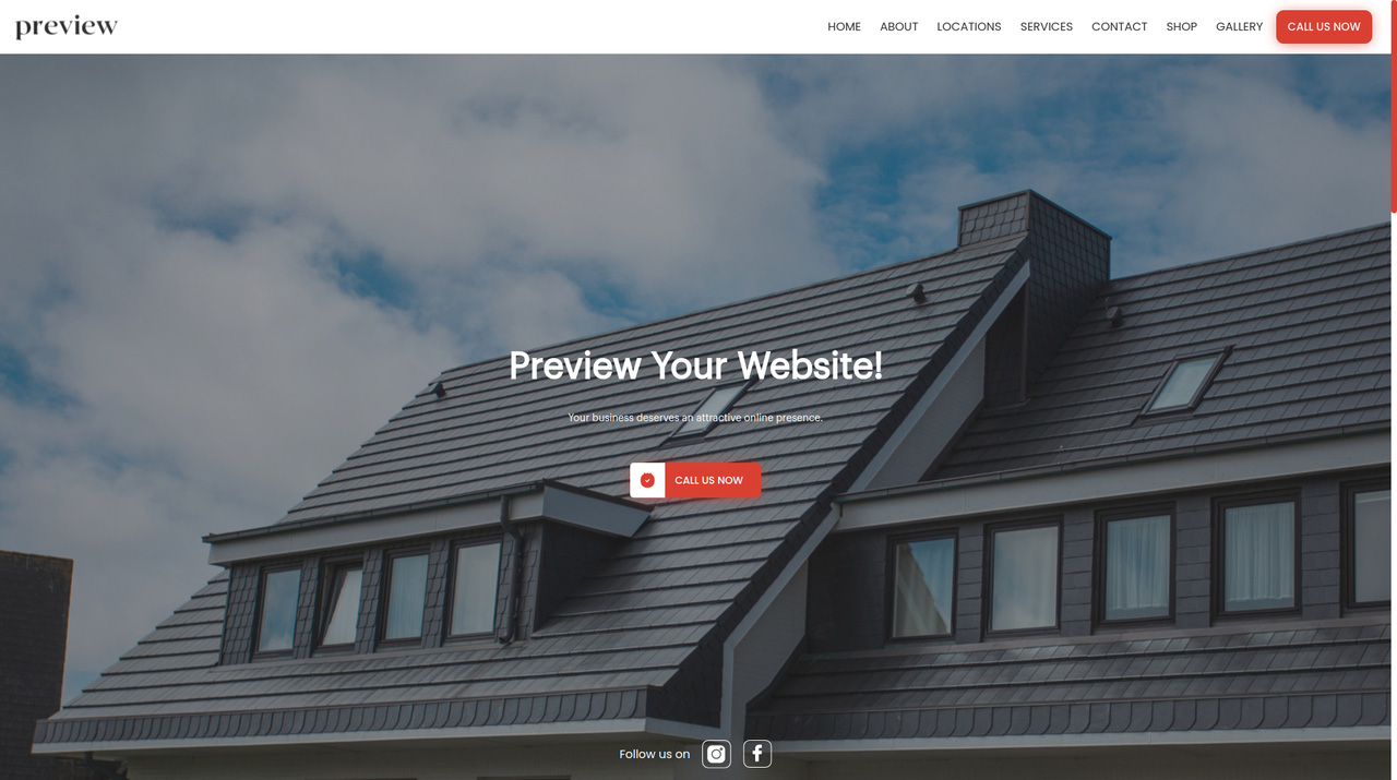 Roofing Websites with multiple templates and images to choose from, setup your online appointments, estimates, and take payments for your services.