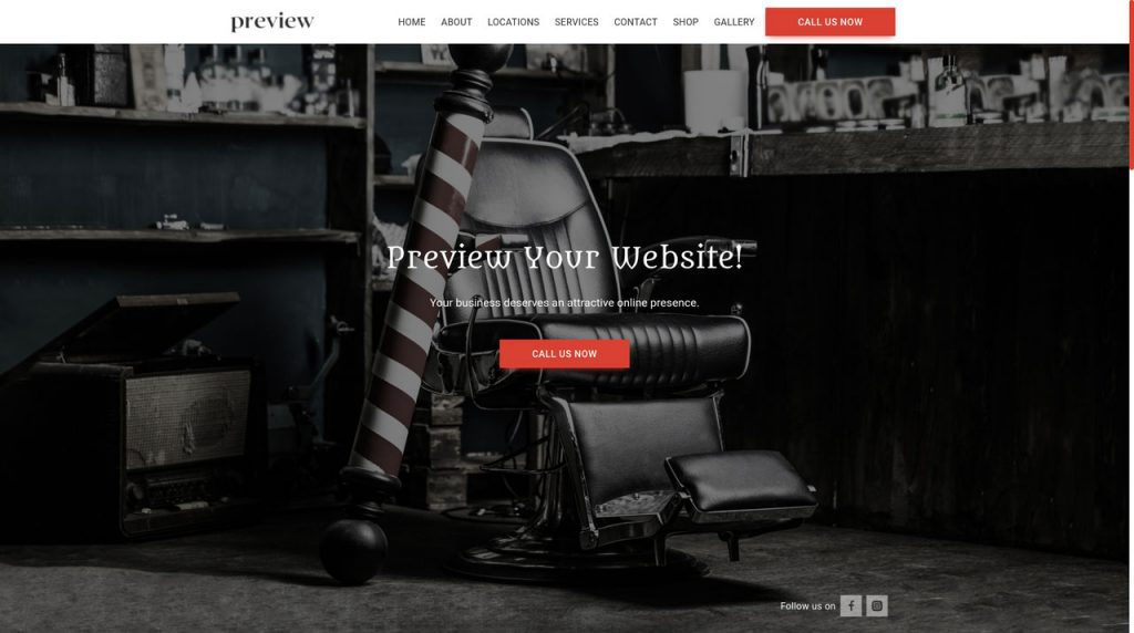 Barbershops needs a website, an appointment system and a way to take payments to be successful