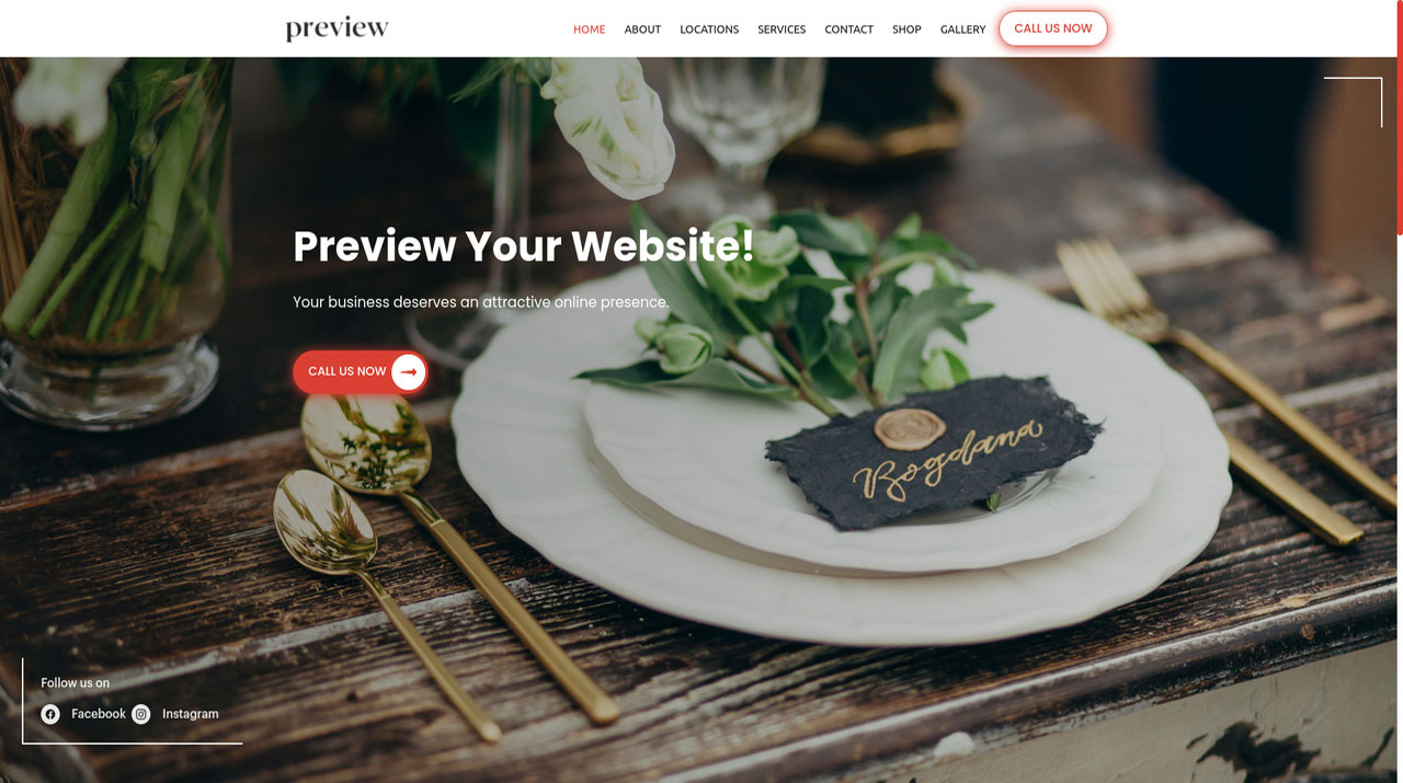 A professional website, appointment system and marketing solutions for Event Planners, Wedding Planners and Party Planners
