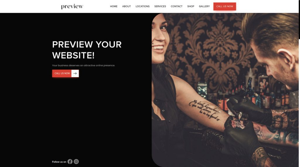 Appointment systems, websites and sell online for tattoo studios and artists